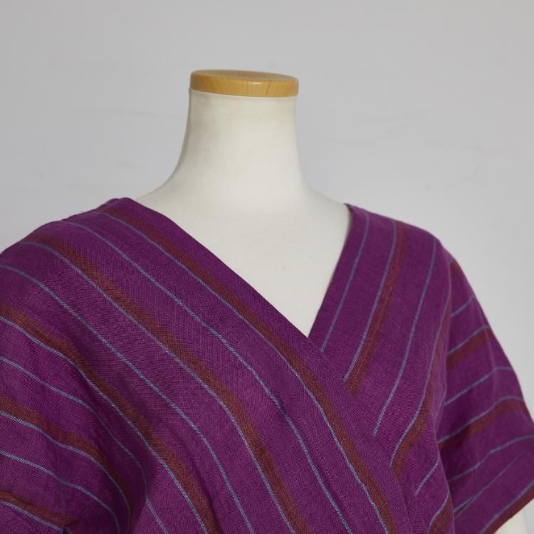 Linen Stripe One-piece
