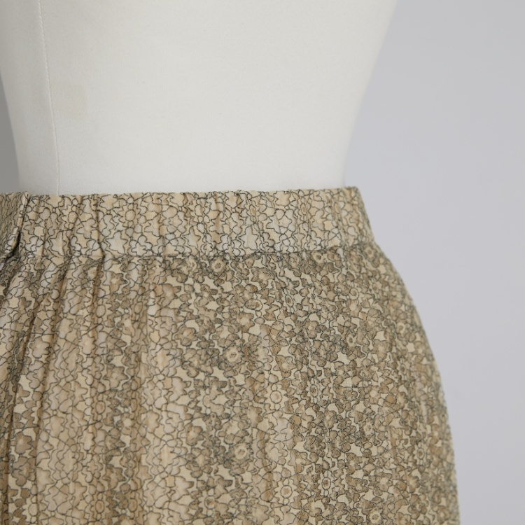 Flower Lace Pleat Skirt