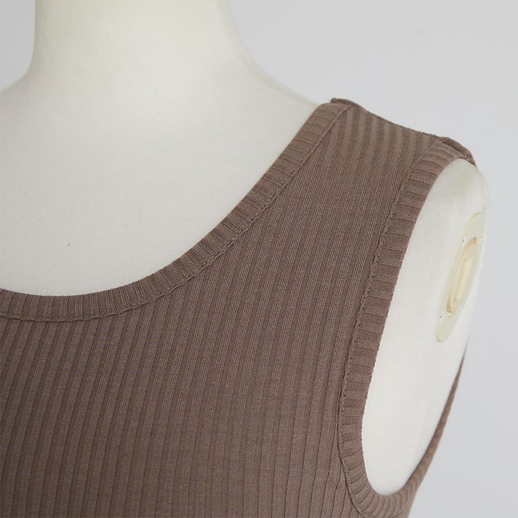 Stretch Rib Tank-top パット付き