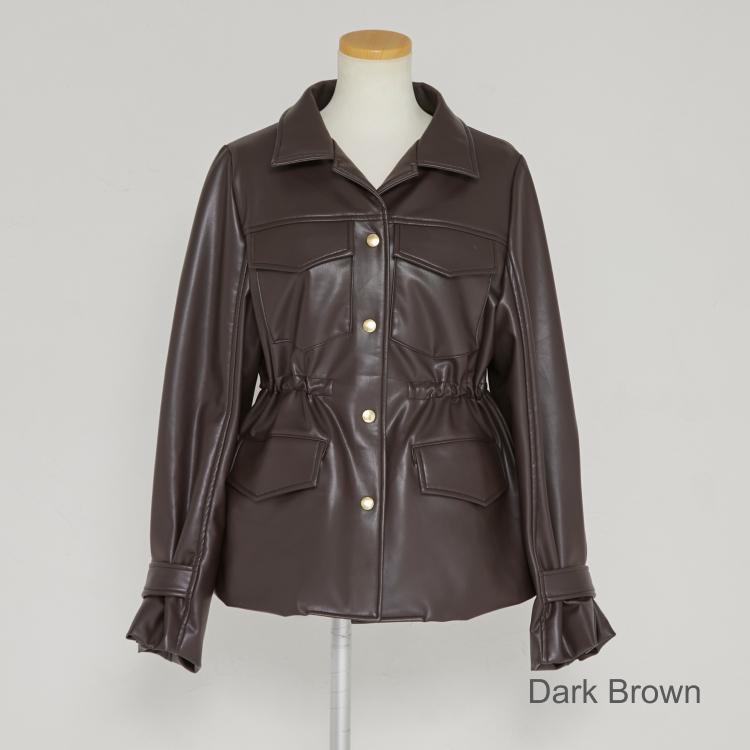 【2021AW NEW】Leather Like Jacket