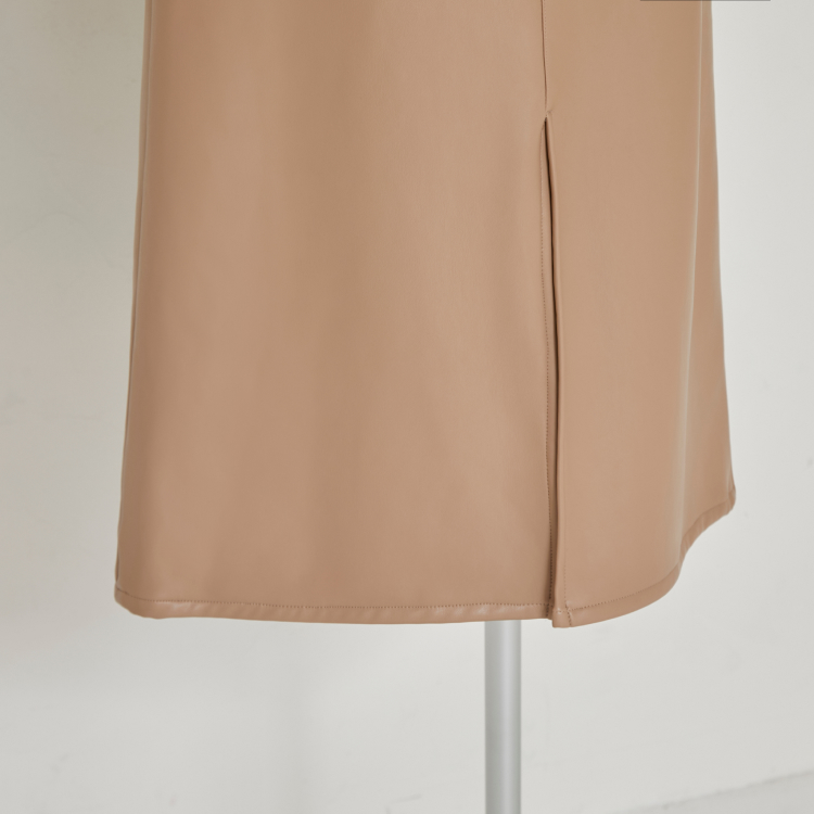 【2021AW NEW】Leather Like Long Skirt