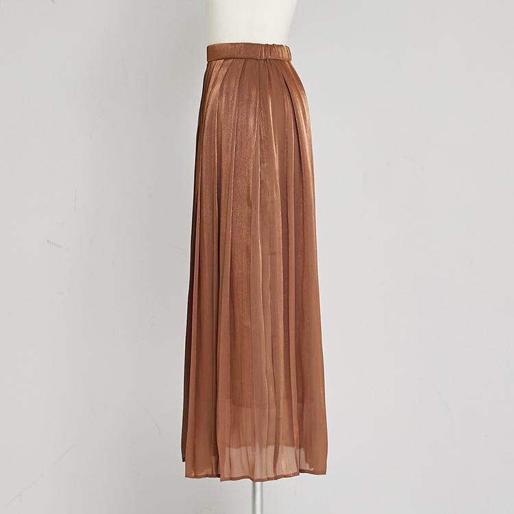 【2020 AW】Shiny Pleat Skirt
