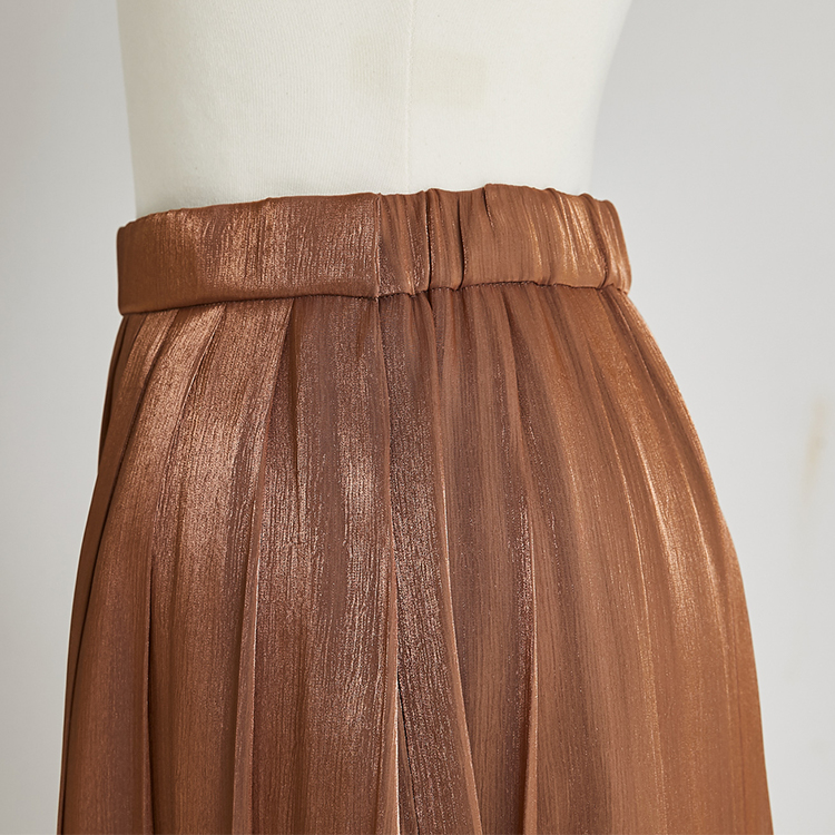 Shiny Pleat Skirt