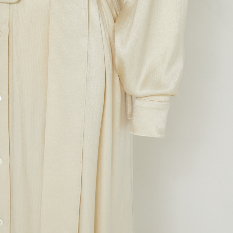 【2021AW NEW】Shiny Shirt One-piece