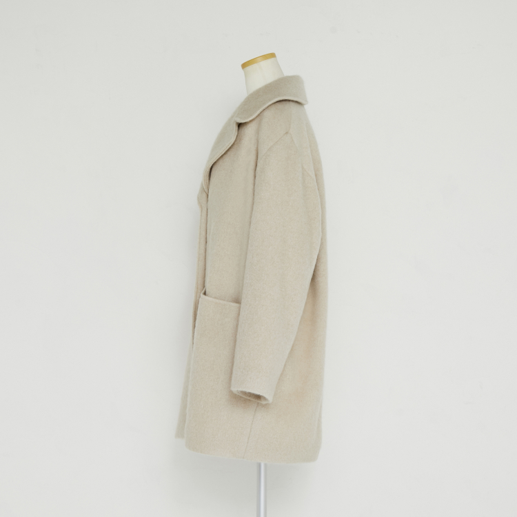 【2021AW NEW】Hairy Cocoon Coat 2