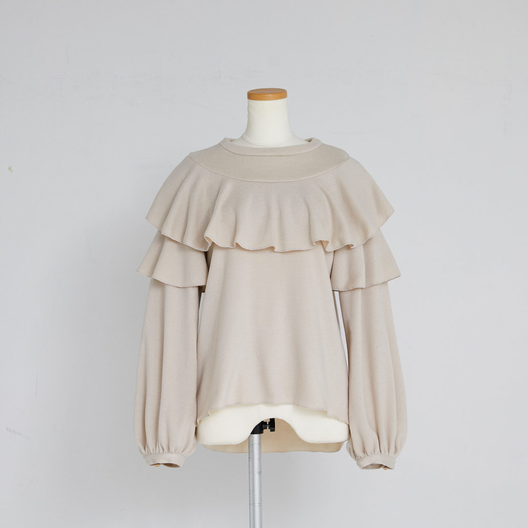 Frill Knit Pull-over