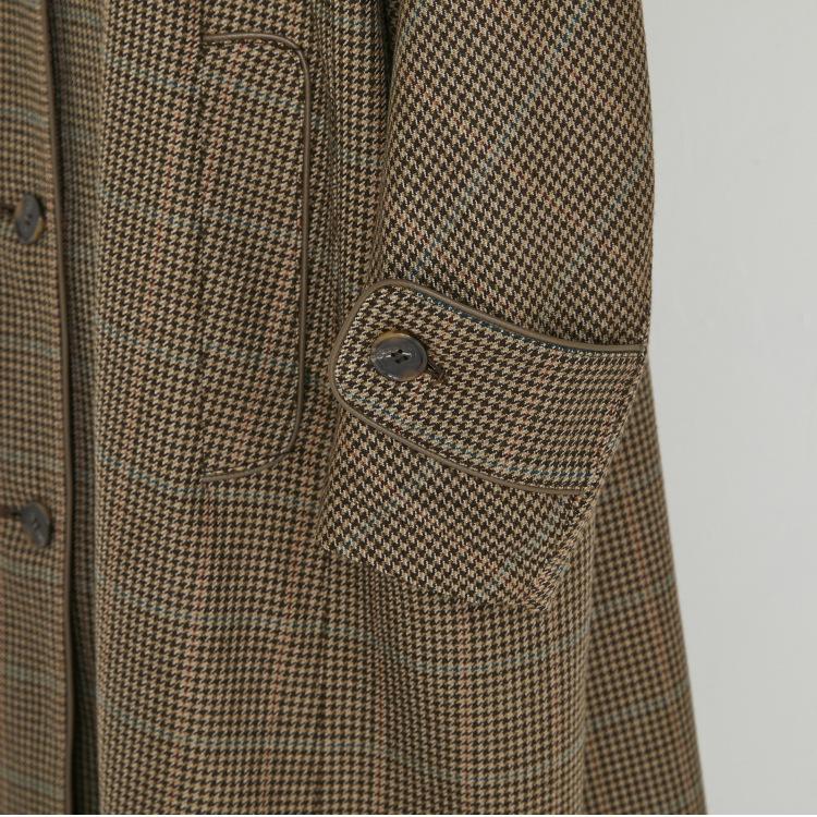 【2021AW NEW】Piping Tweed Coat