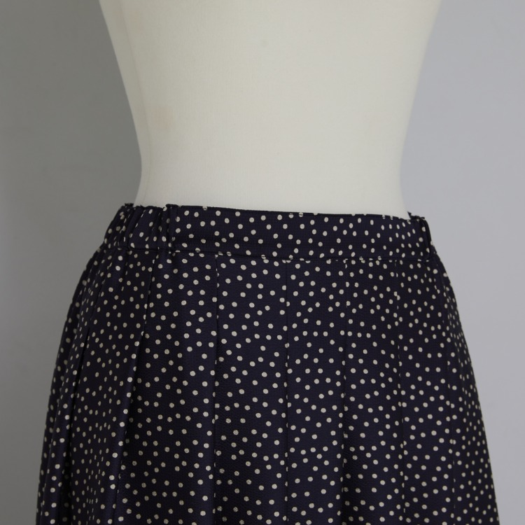 Dot Tuck Satin Skirt