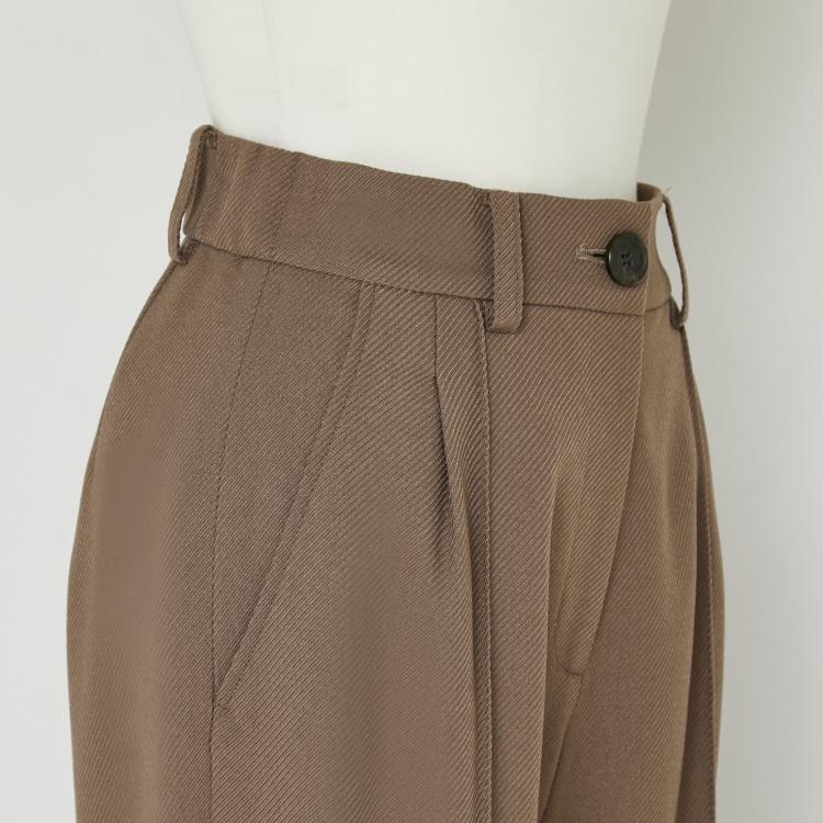 【2021AW NEW】Center Seam Wool Like Pants