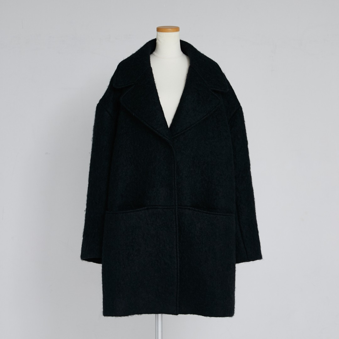 【2020 AW NEW】Hairy Cocoon Coat