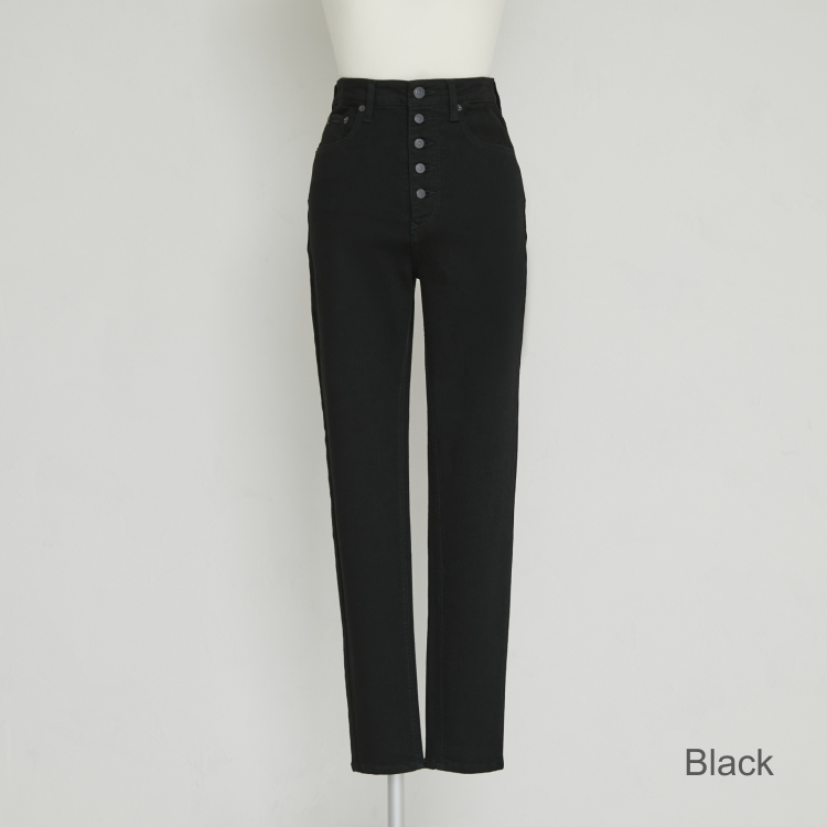 【2021AW NEW】Black×Black Skinny Denim Pants