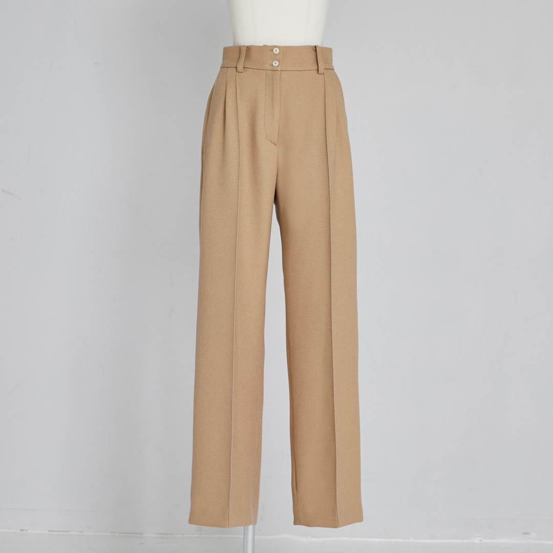 Center Tuck Pants
