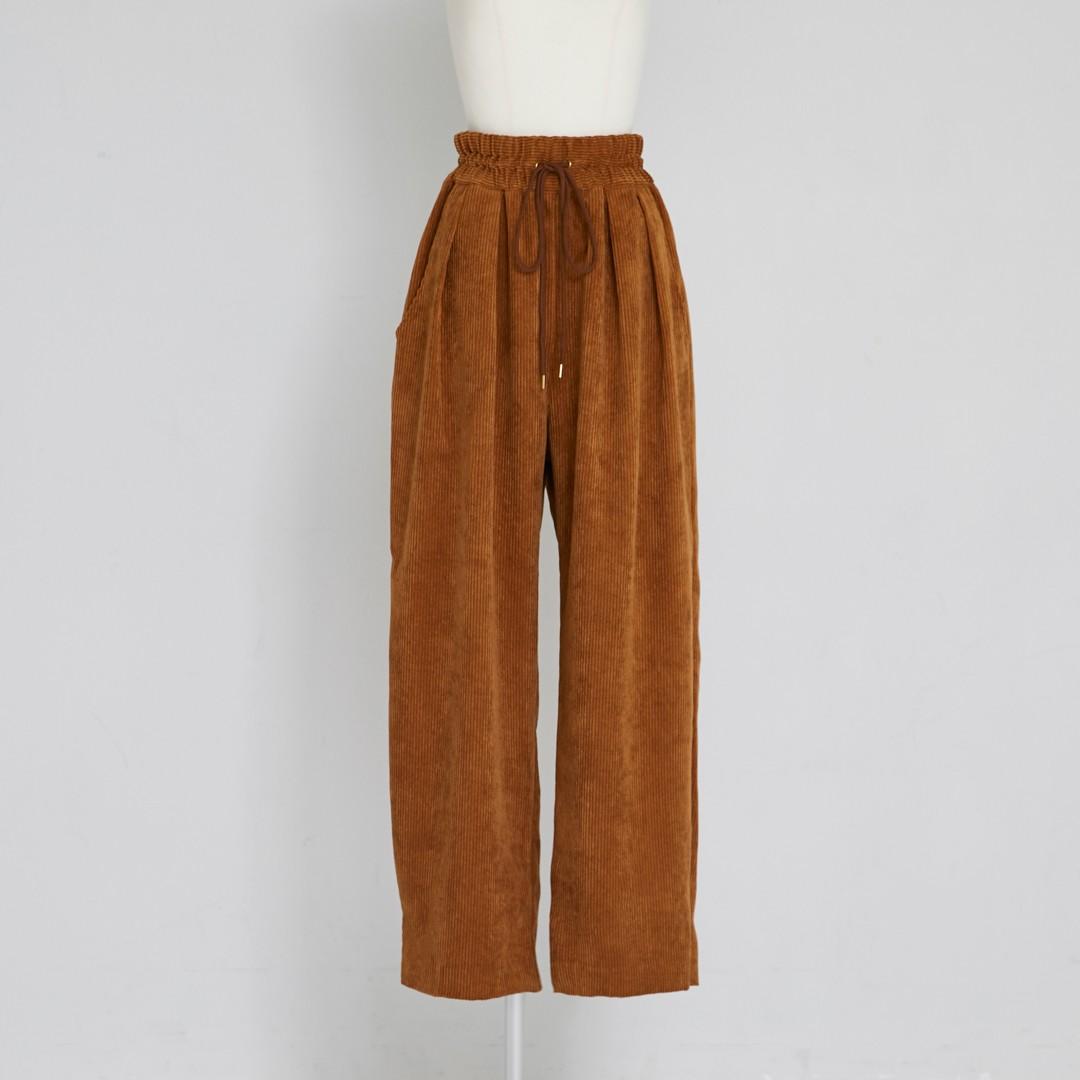 Corduroy Tuck Pants
