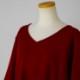 Wool Jersey Poncho