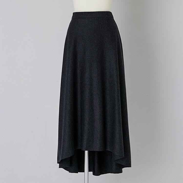 Wool Jersey Flare Skirt