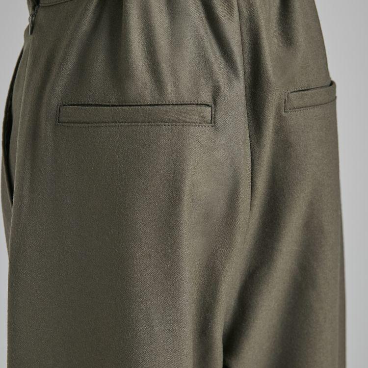 Wool Flano Tuck Pants
