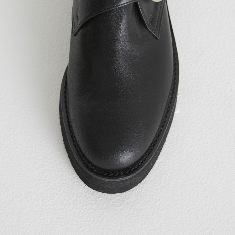 Leather Buckle Shoes
