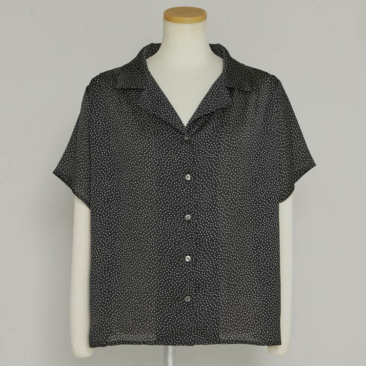 【2021SS NEW】Dot Half Sleeve Shirt
