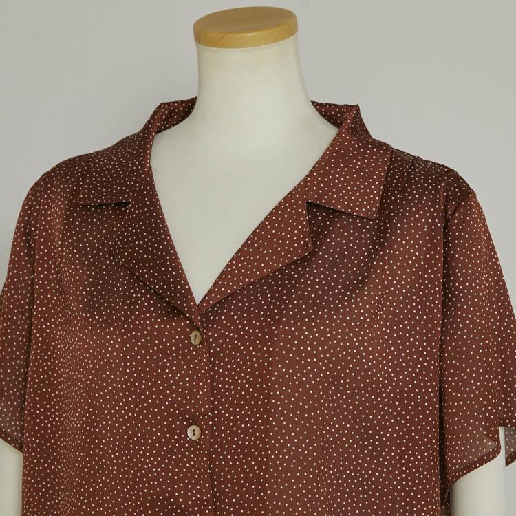 【2021SS NEW】Dot Half Sleeve Shirt