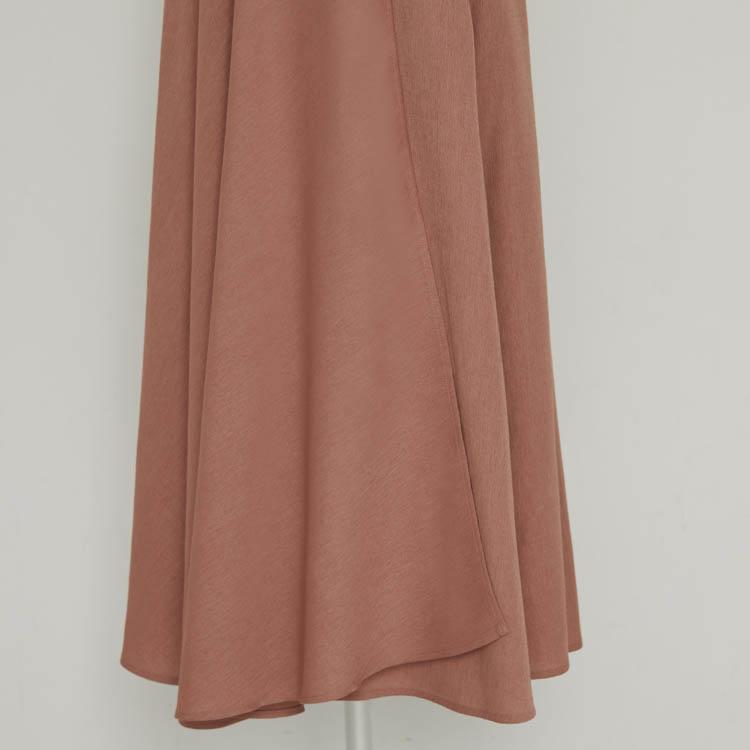 Linen Like Puff Sleeve One-piece