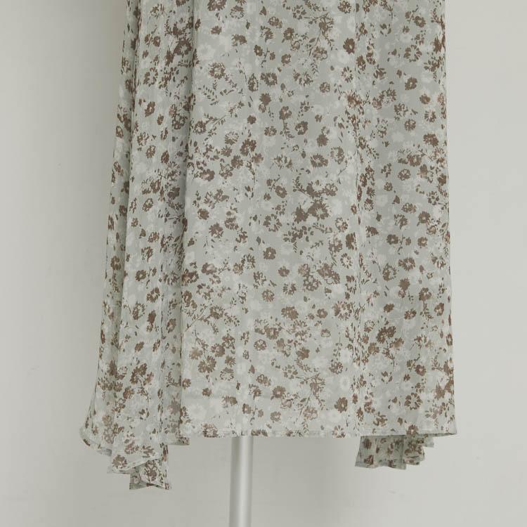 【2021SS NEW】Flower Chiffon One-piece