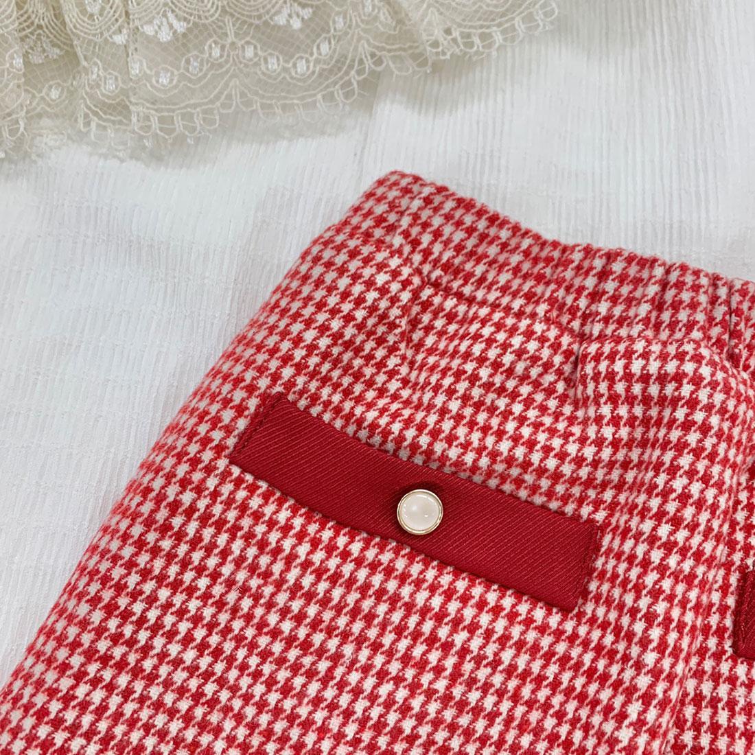 ウェルトポケット千鳥柄スカート