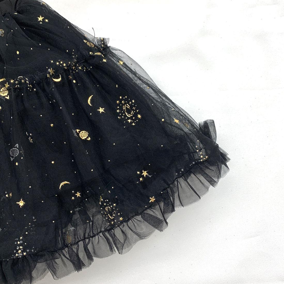 星柄シフォンスカート