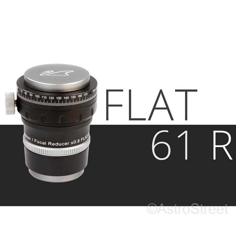 [入荷予約]WillamOptics Flat61R アジャスタブル 0.8倍 レデューサー/フラットナー Z61鏡筒用