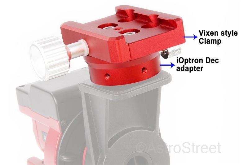 WilliamOptics iOptron Skyguider Pro用 DECアダプター