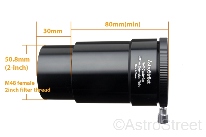 AstroStreet セルフセンタリング 2インチスリーブ 延長筒 80mm
