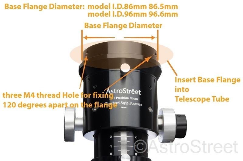"AstroStreet 2"" クレイフォードフォーカサー 屈折鏡筒用 I.D.86mm マイクロフォーカス付"