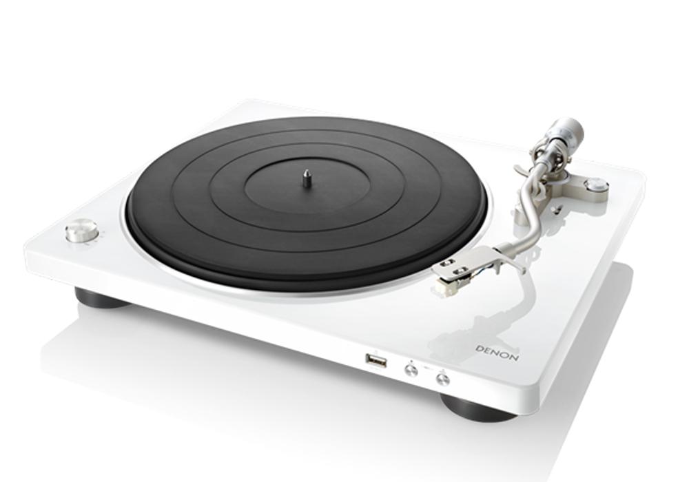 DENON - DP-450USB/ホワイト[DP450USBWTEM](USBメモリー録音対応・ベルトドライブ方式・レコードプレーヤー)《JP》【在庫有り即納】