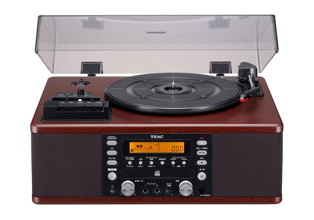 TEAC - LP-R560K(カラオケ機能搭載・ターンテーブル/カセットプレーヤー付CDレコーダー)《JP》【在庫有り即納】