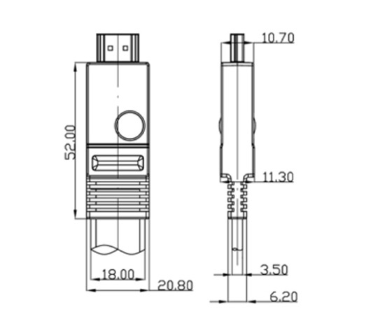 AIM - PAVA-FLE007Mk2/0.7m(HDMI)《JP》【メーカー取寄商品・納期を確認後、ご連絡いたします】