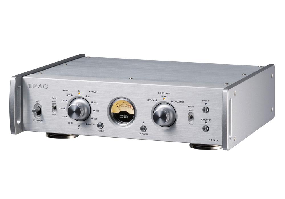 TEAC - PE-505-S/シルバー(MC/MM対応フォノイコライザーアンプ)《JP》【在庫有り即納】