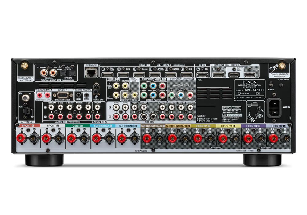 DENON - AVR-X4700H/ブラック(9.2ch AVサラウンドレシーバー)【2021年8月11日まで AVR-X4700H/AVC-X6700Hご購入でaudioquest HDMIケーブルプレゼントキャンペーン実施中】《JP》【在庫有り即納】