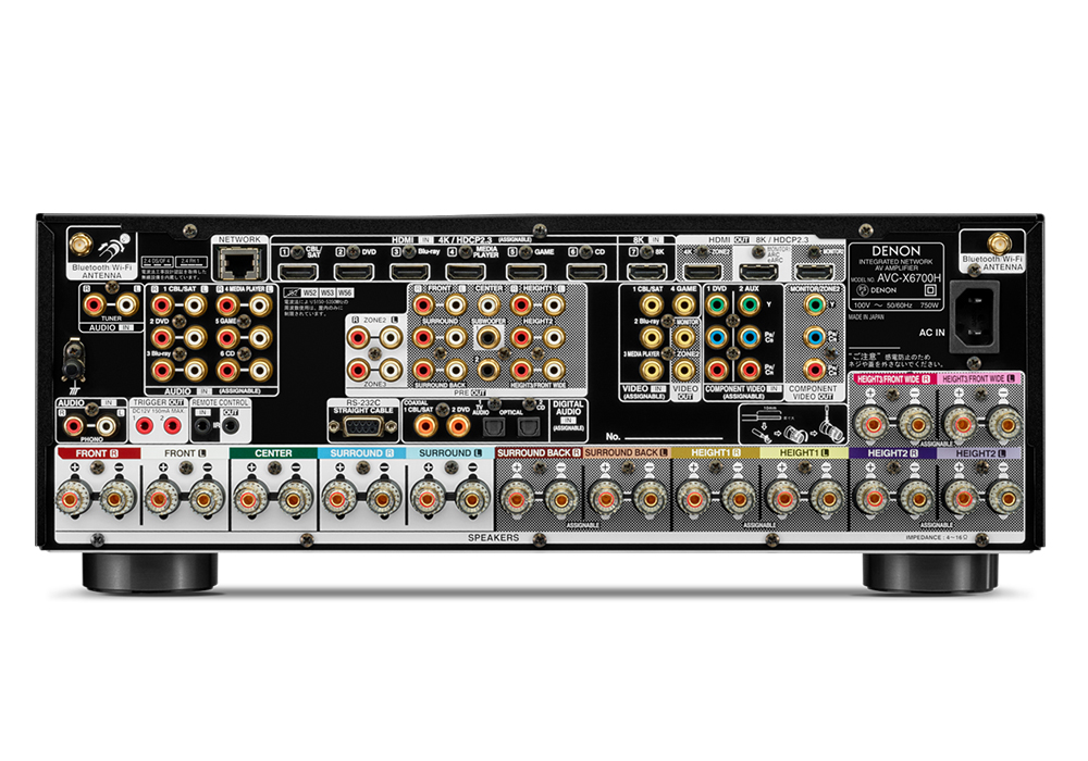 DENON - AVC-X6700H/ブラック(11.2ch AVサラウンドアンプ)《JP》【在庫有り即納】