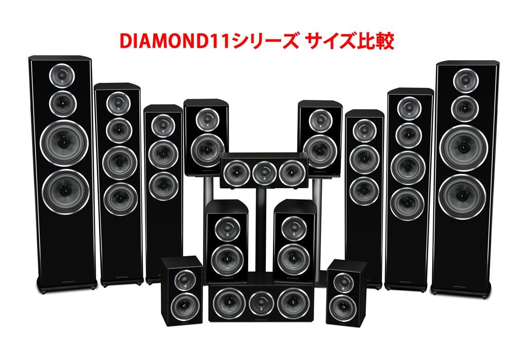 Wharfedale - DIAMOND11.CC/ローズ(センタースピーカー・1本)《JP》【メーカー在庫有り即納】