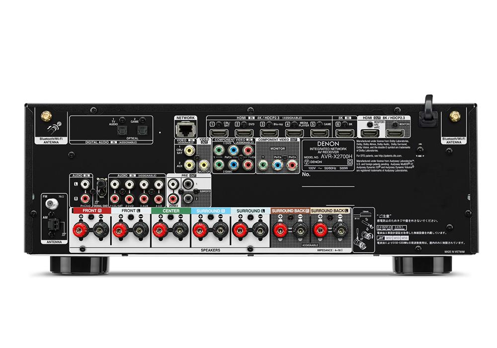 DENON - AVR-X2700H/K(7.2ch AVサラウンドレシーバー)《JP》【在庫有り即納】
