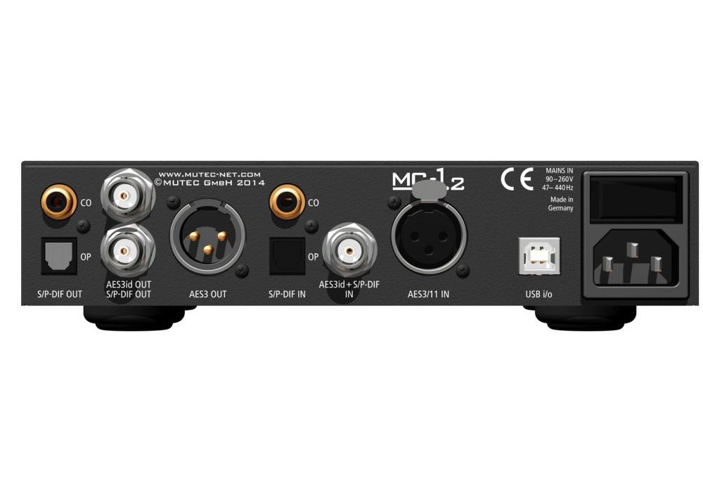 MUTEC - MC-1.2 Aluminum(USBデジタルオーディオ・フォーマットコンバーター)《JP》【完売】