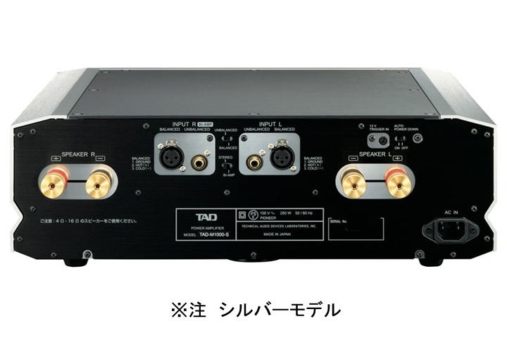 TAD - M1000-S/シルバー(ステレオパワーアンプ){大型TAD}《JP》【在庫有り・3〜7営業日でお届け可能※北海道沖縄10営業日前後(代引不可)】