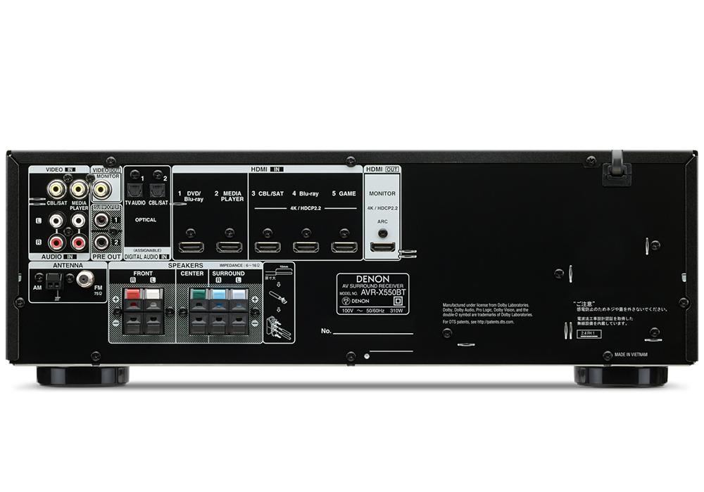 DENON - AVR-X550BT(5.2ch AVサラウンドレシーバー)《JP》【次回納期未定・ご予約受付中】