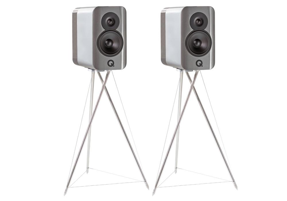 Q-Acoustics - Concept 300/シルバー・エボニー(専用スタンド付・ペア)《JP》【受注生産品・納期を確認後、ご連絡いたします】