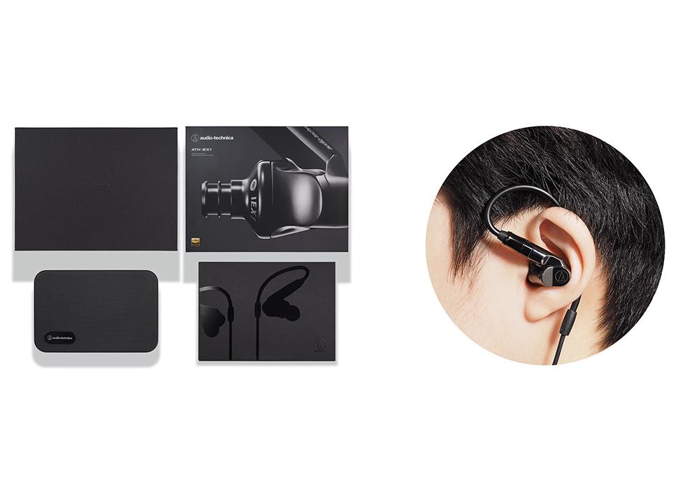 audio-technica - ATH-IEX1(ハイブリッド型インナーイヤホン)《JP》【メーカー直送商品・3〜5営業日前後でお届け可能です※メーカー休業日除く】