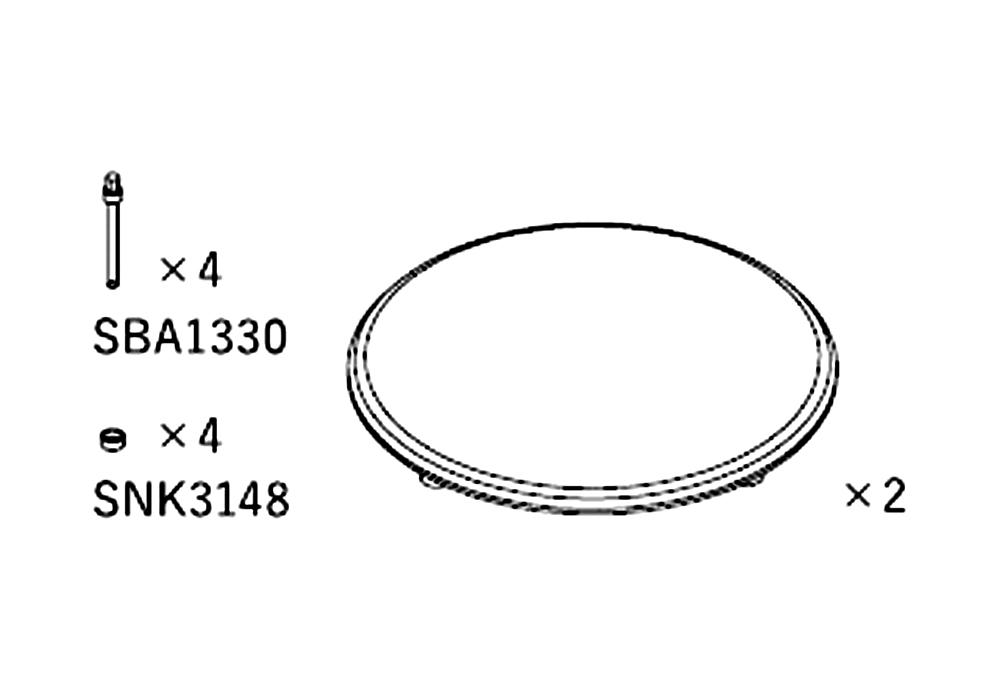 TAD - SG1(E1TX/ME1ウーファー用グリルカバー)(2枚1組)《JP》【在庫有り即納】