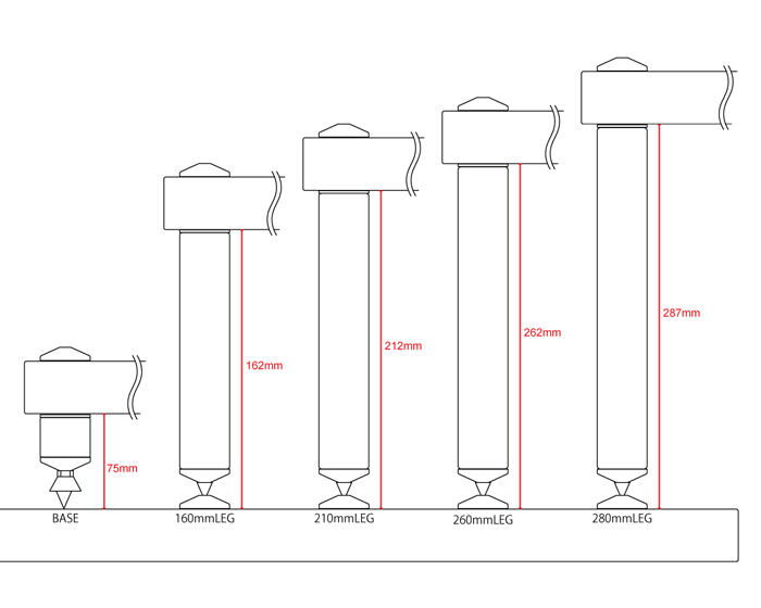 Atacama - EVOQUE ECO SE 60/40(棚:ナチュラルフィニッシュ(未塗装)・レッグ:シルバーメタリック)【棚板(600mm×400mm)1枚+レッグ/ベース4本セット】《JP》