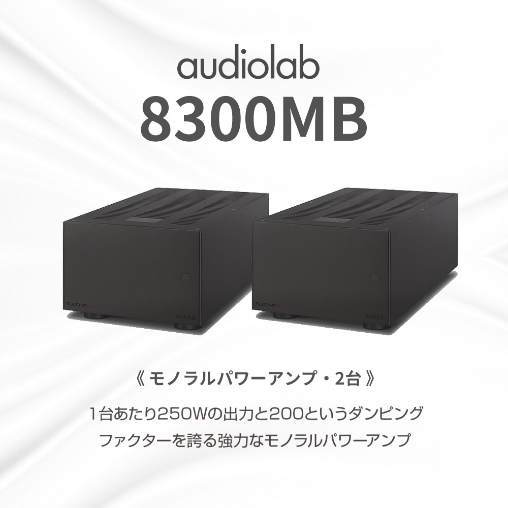 AIRBOW・audiolab色合せセット(ブラック) - NT505 Special-CP+8300MB(モノラルパワーアンプ・2台)《JP》