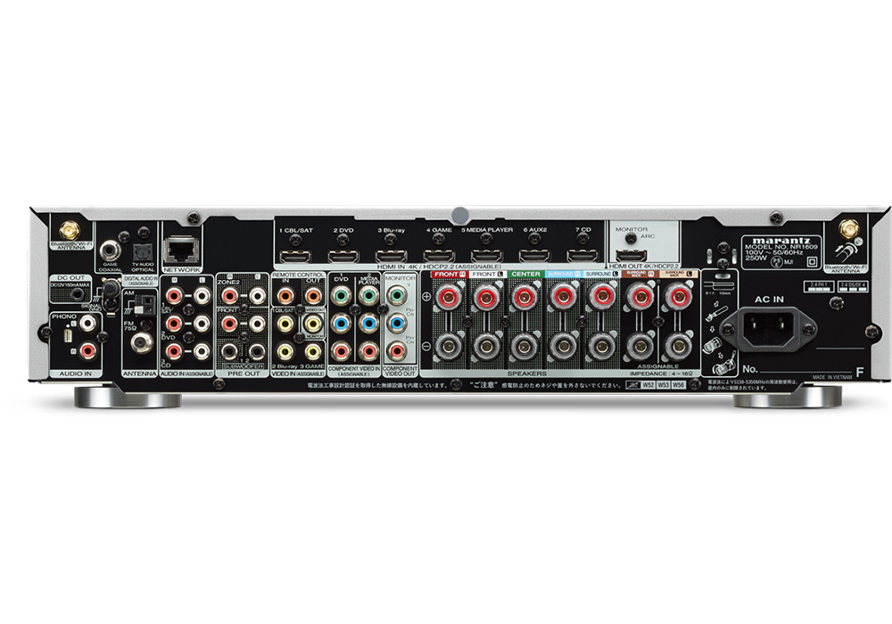 marantz - NR1710/FB/ブラック(7.1ch・スリムデザイン・AVサラウンドレシーバー)《JP》【完売】