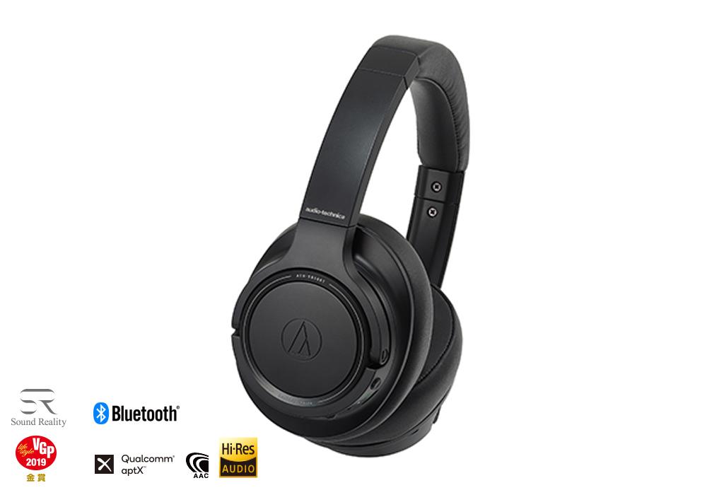 audio-technica - ATH-SR50BT-BK(ブラック)(ワイヤレスヘッドホン)《JP》【メーカー取寄商品・3〜5営業日前後でお届け可能です※メーカー休業日除く】
