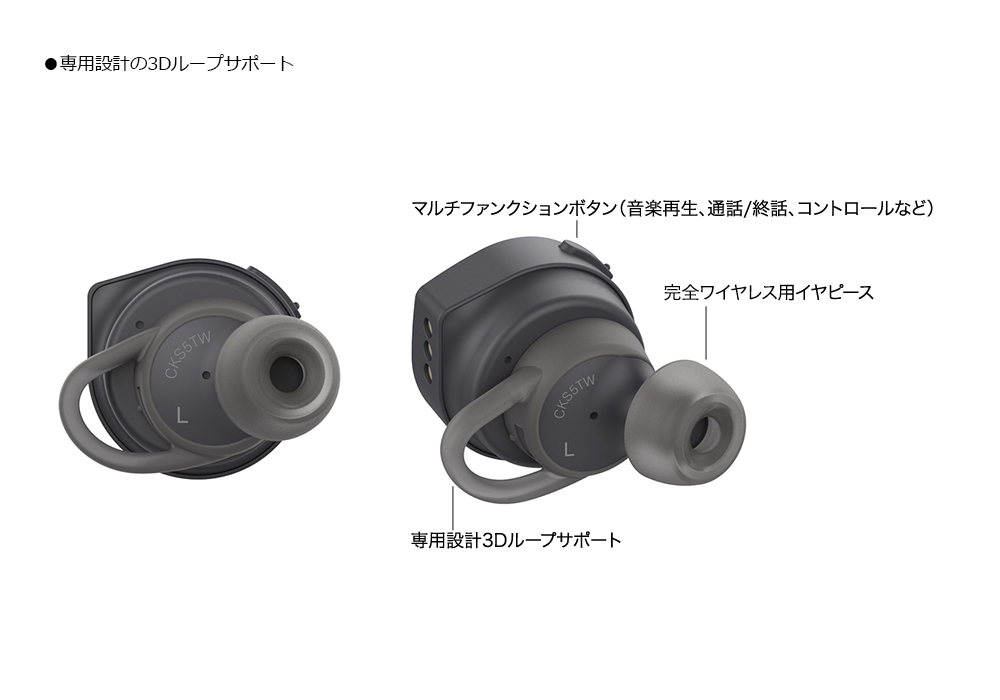 audio-technica - ATH-CKS5TW BK(ブラック)(完全ワイヤレスイヤホン)《JP》【完売】